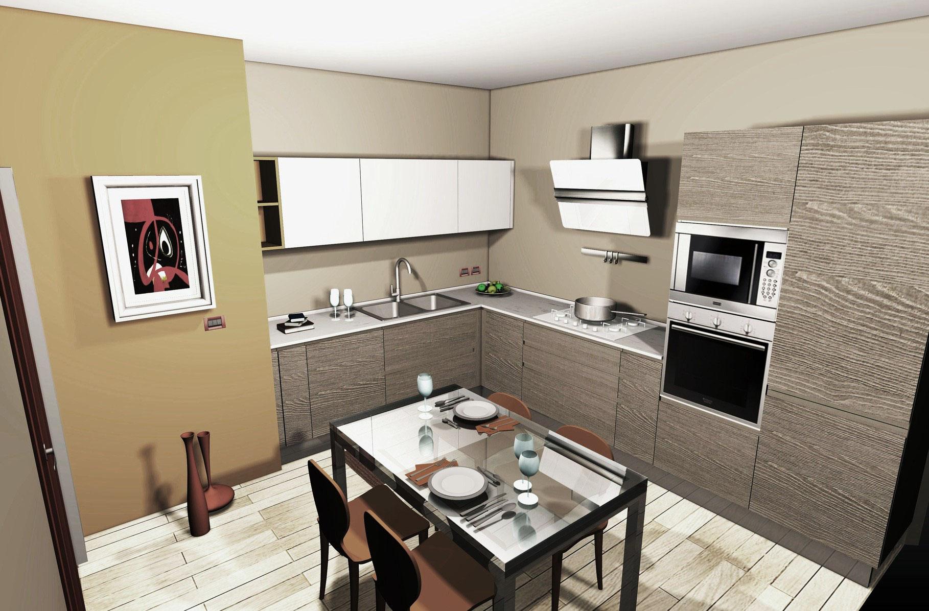 Portfolio progetti cucine camere camerette ingressi for Cucine e salotti