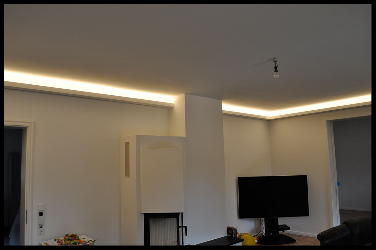 Indirekte Beleuchtung / Lichtvouten - Gipskarton Formteile für den