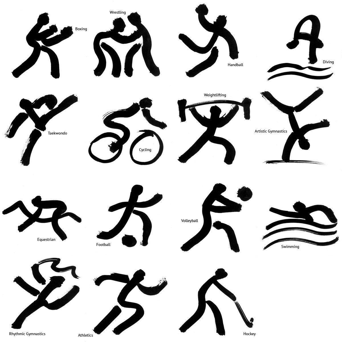 Картинки пиктограммы видов спорта