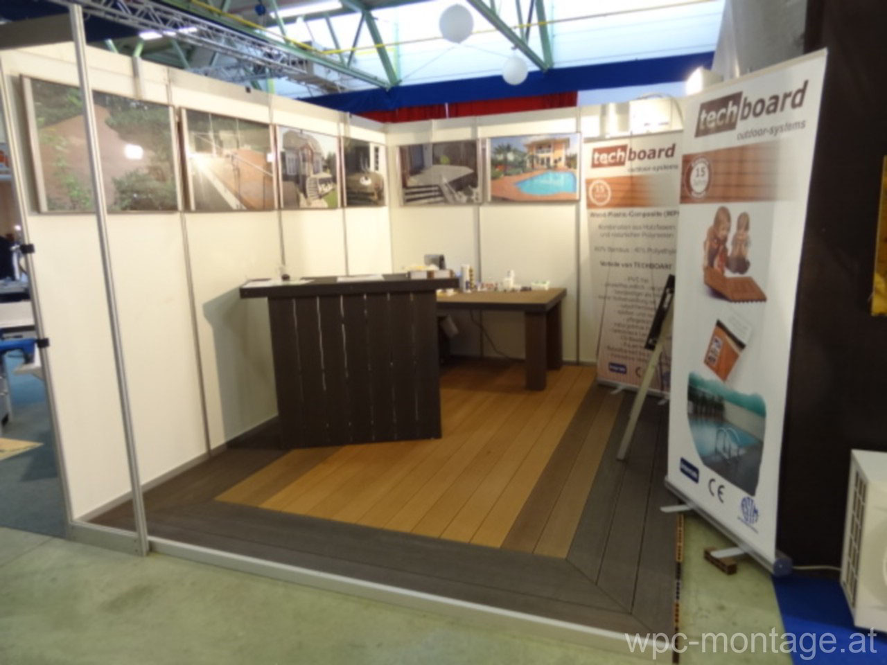 bildergalerie messestand messetermine wpc dielen verkauf montage wpc poolterrasse adorjan. Black Bedroom Furniture Sets. Home Design Ideas