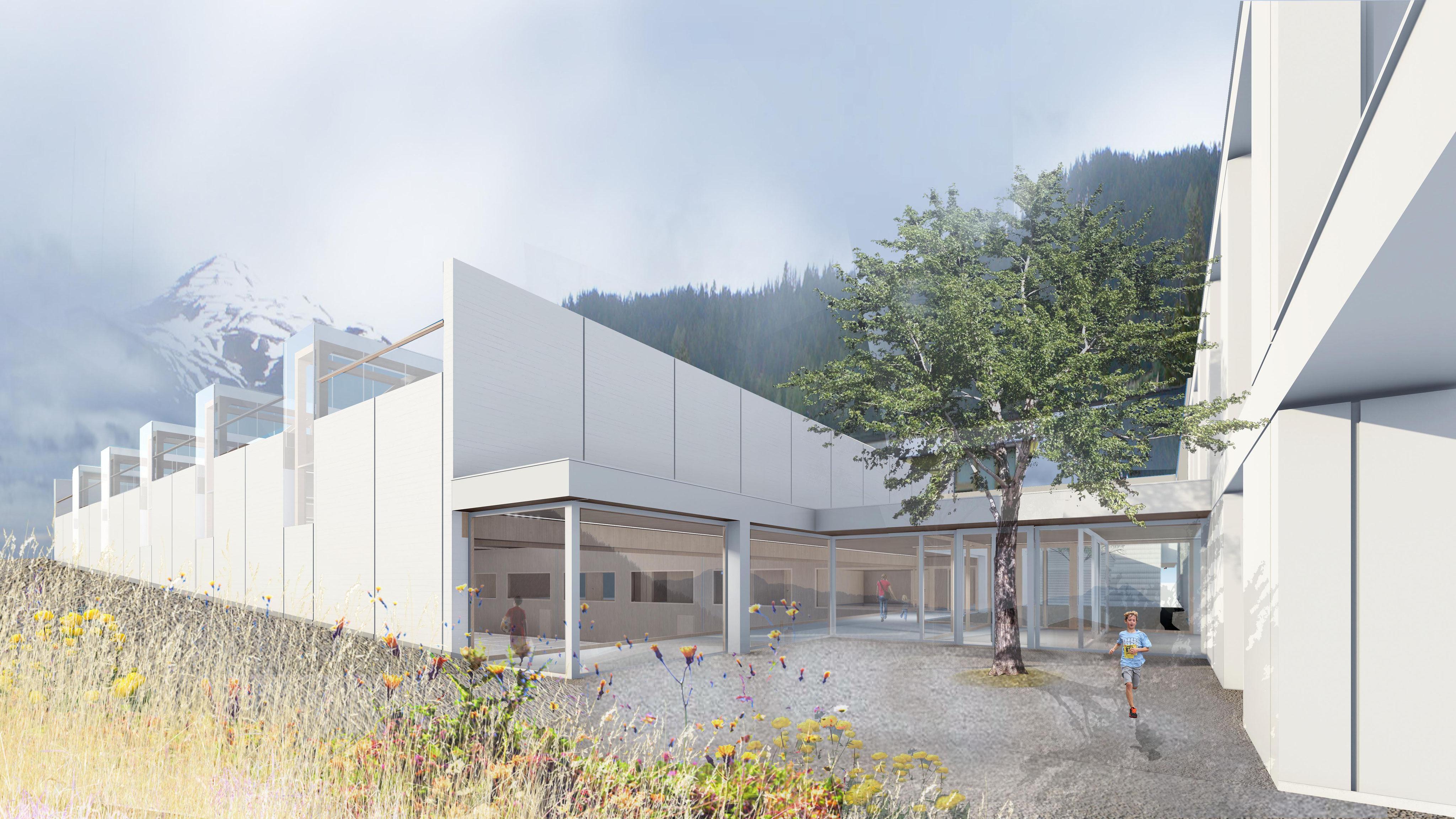 Projektwettbewerb dreifachturnhalle davos platz b k architekten ag - Berghaus architekten ...