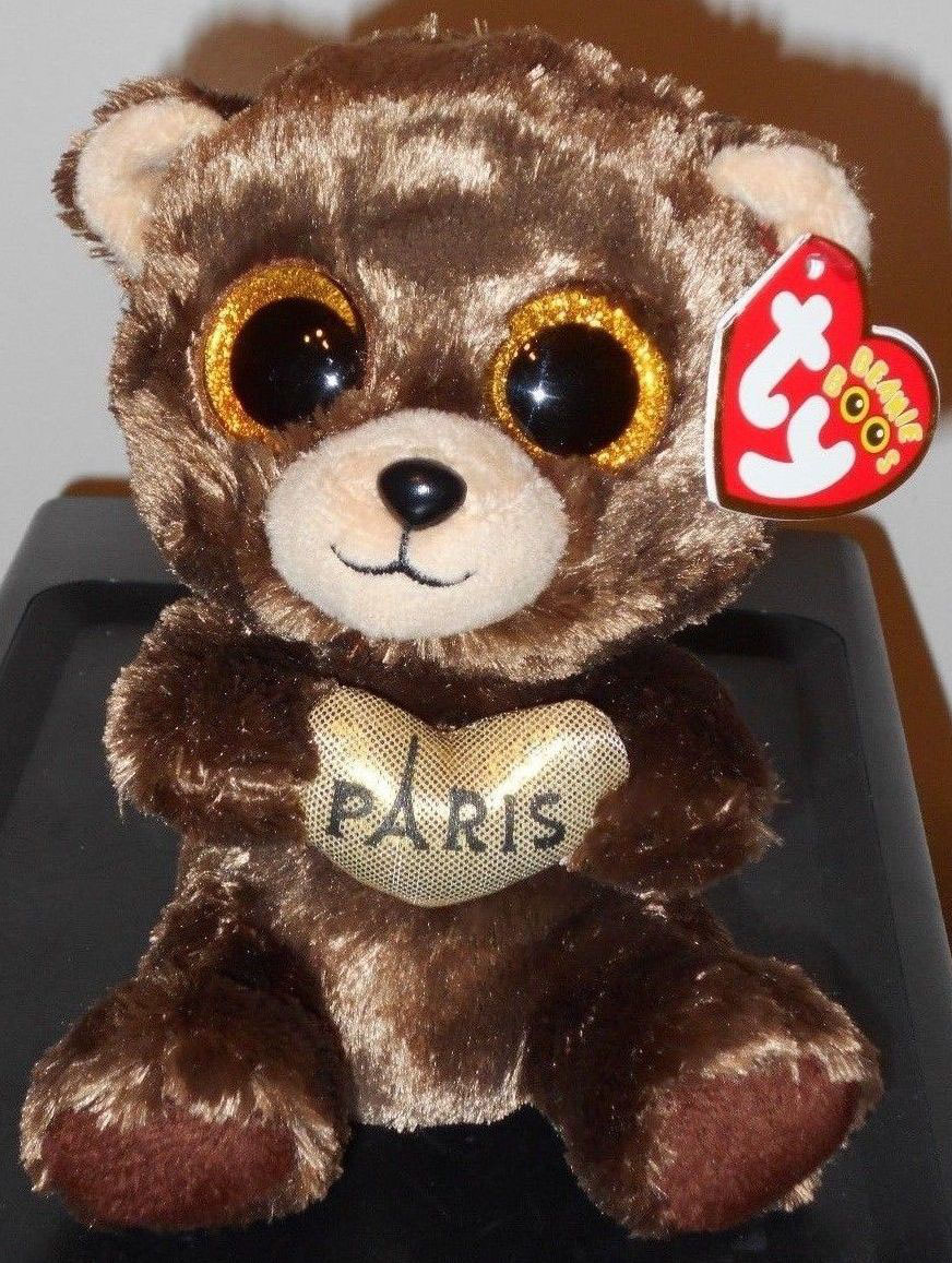New Beanie Boo bear and dog  Paris Exclusives  Darcy   Jack! - Beanie Boo  collection website! b3437ca7805