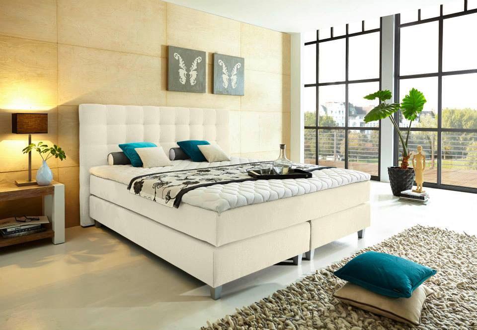 boxspringbett rockstar in schwarz grau braun etc welcon. Black Bedroom Furniture Sets. Home Design Ideas