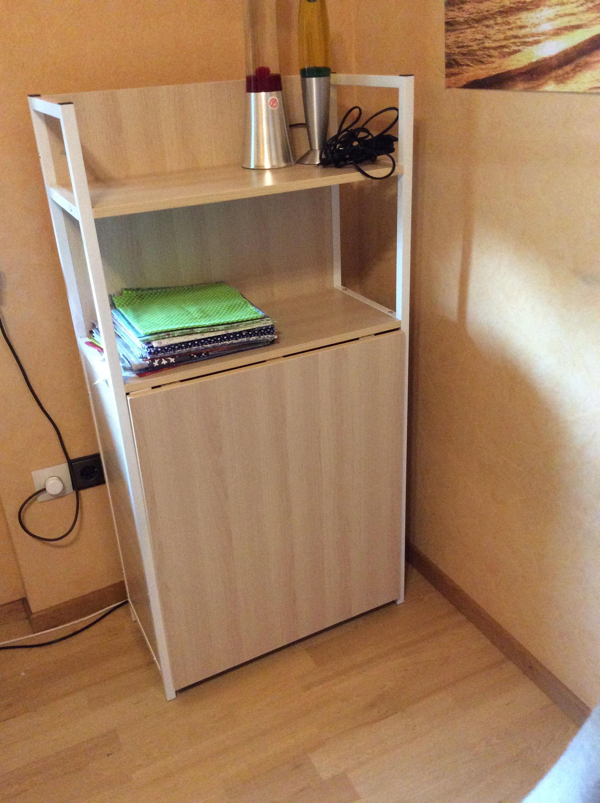 standregal mit tisch. Black Bedroom Furniture Sets. Home Design Ideas