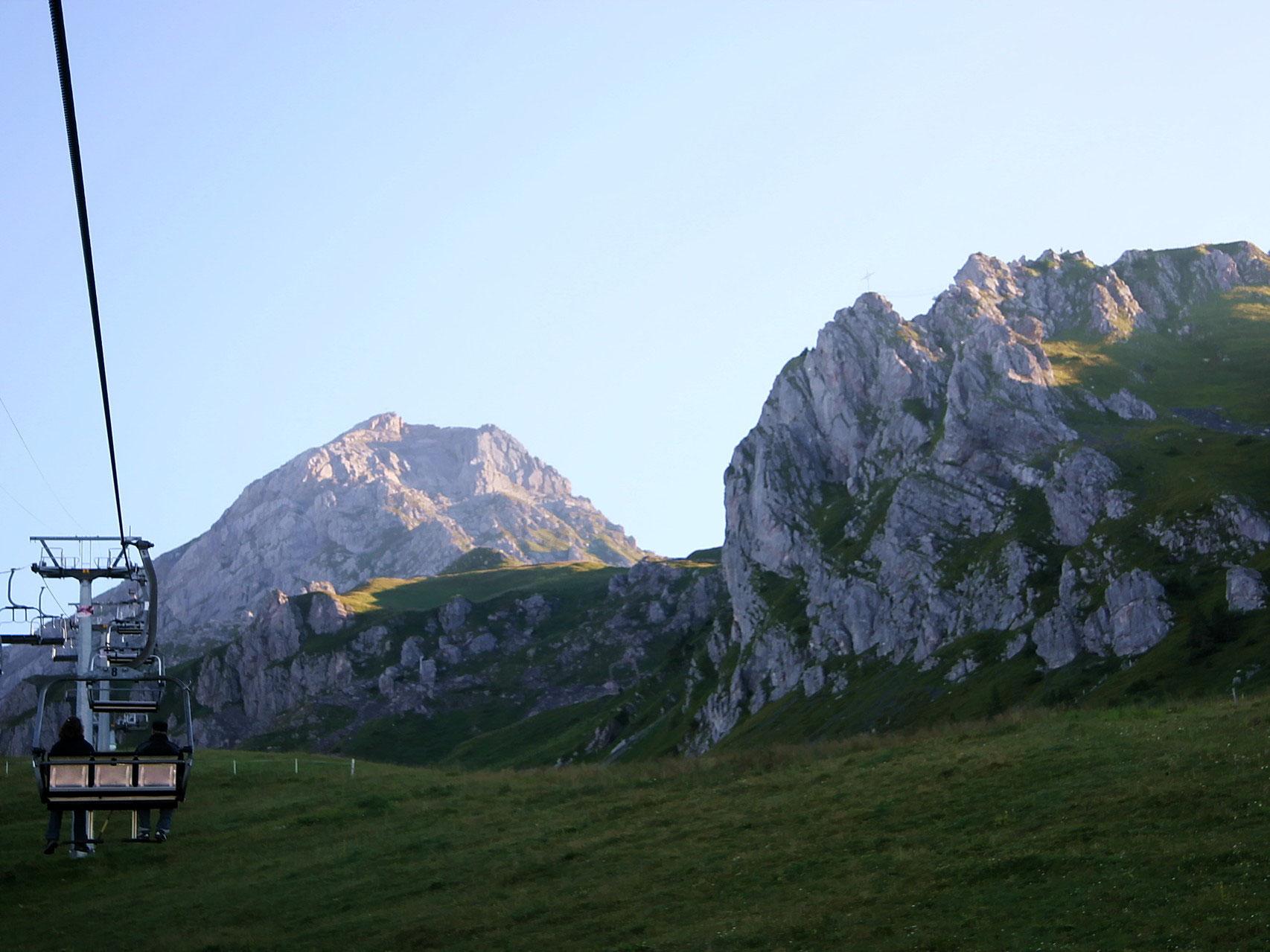 Klettersteig Zittergrat : Brunnistock zittergrat the sunny side