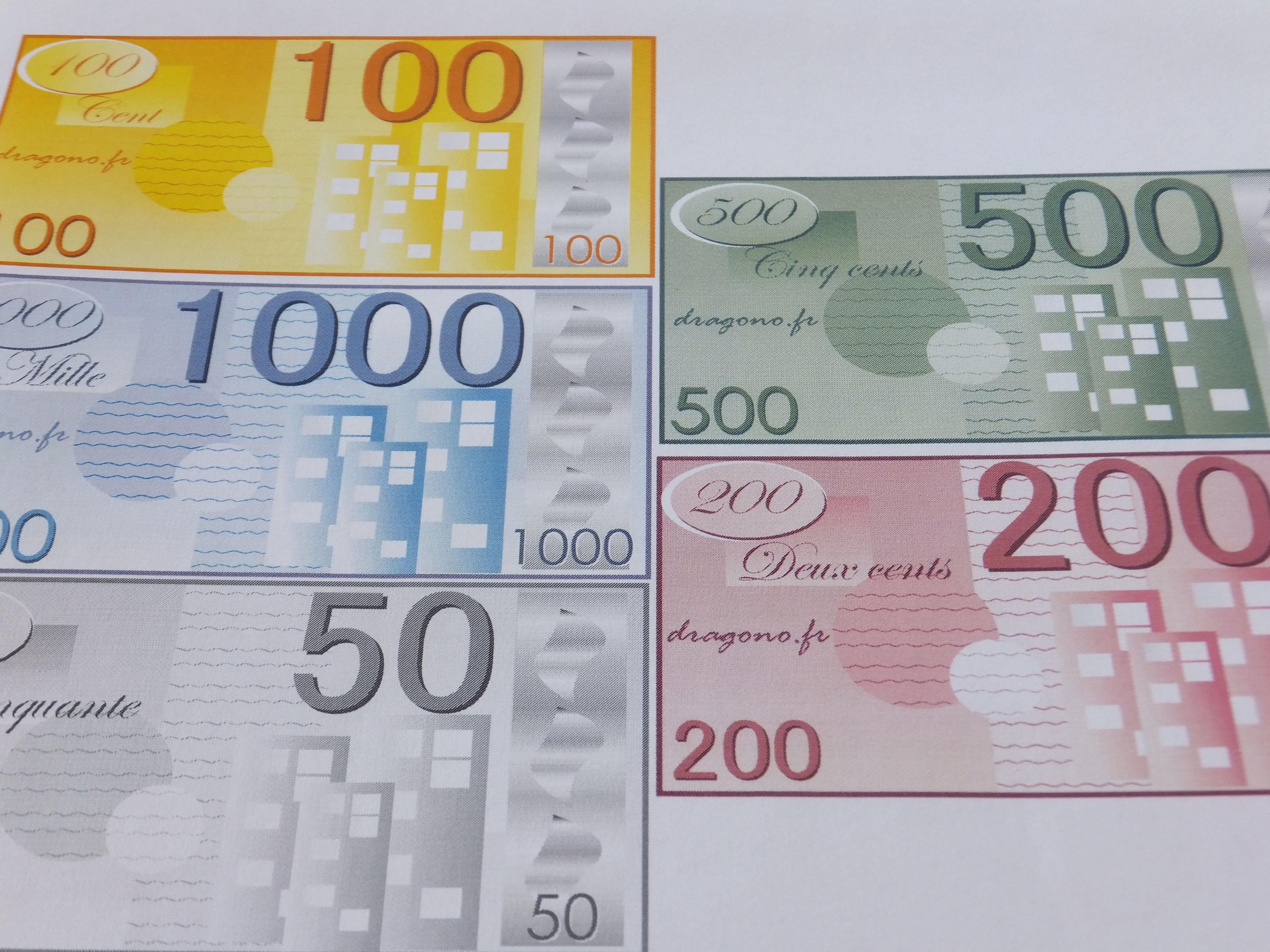 Billets De Fausse Monnaie A Imprimer Jeux De Societe Dragono Fr