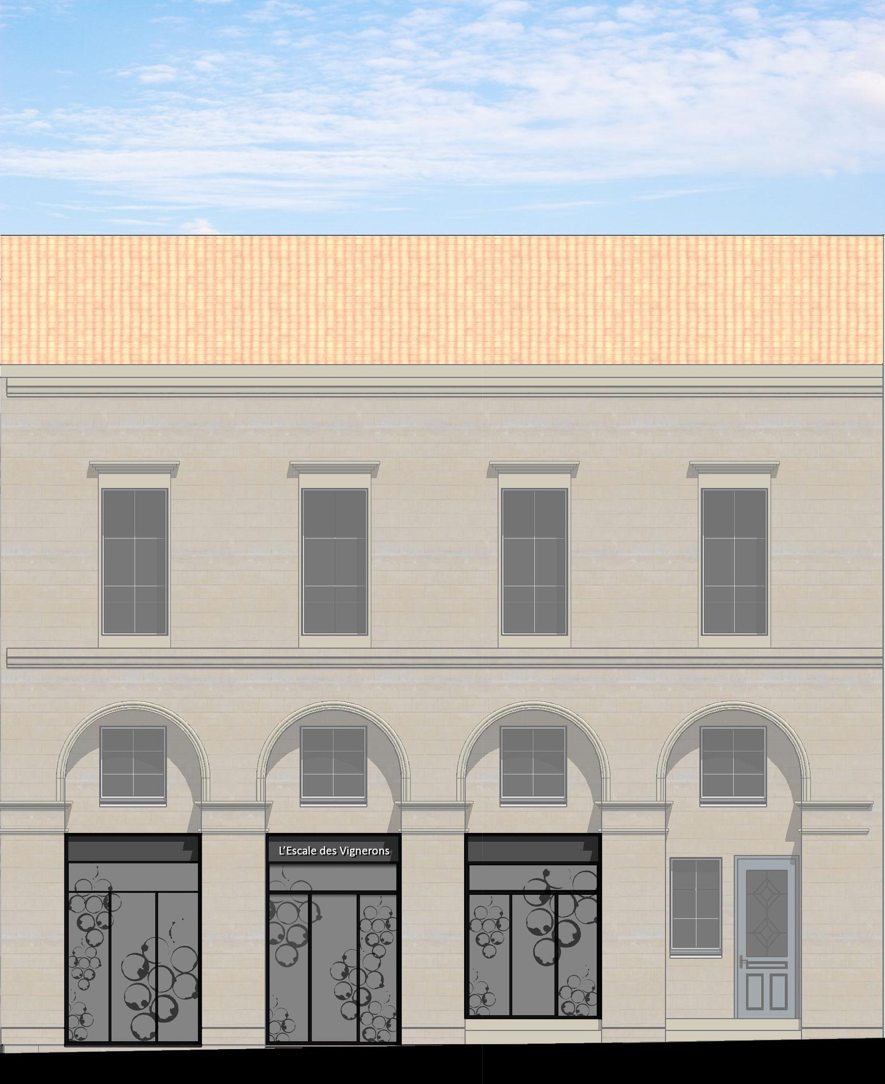 l 39 escale des vignerons agence epure guillaume cariou architecte libourne architecture et. Black Bedroom Furniture Sets. Home Design Ideas