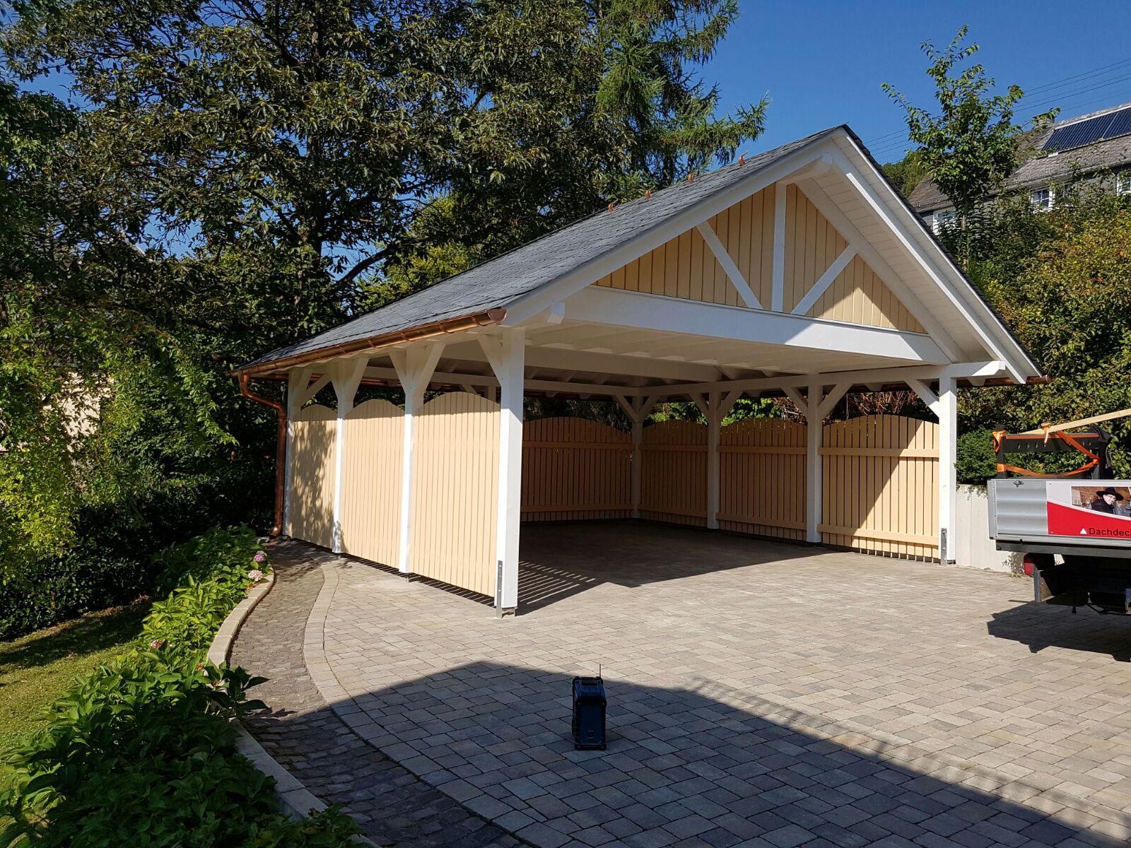 carport nach ma carport vom zimmermeister siegen. Black Bedroom Furniture Sets. Home Design Ideas