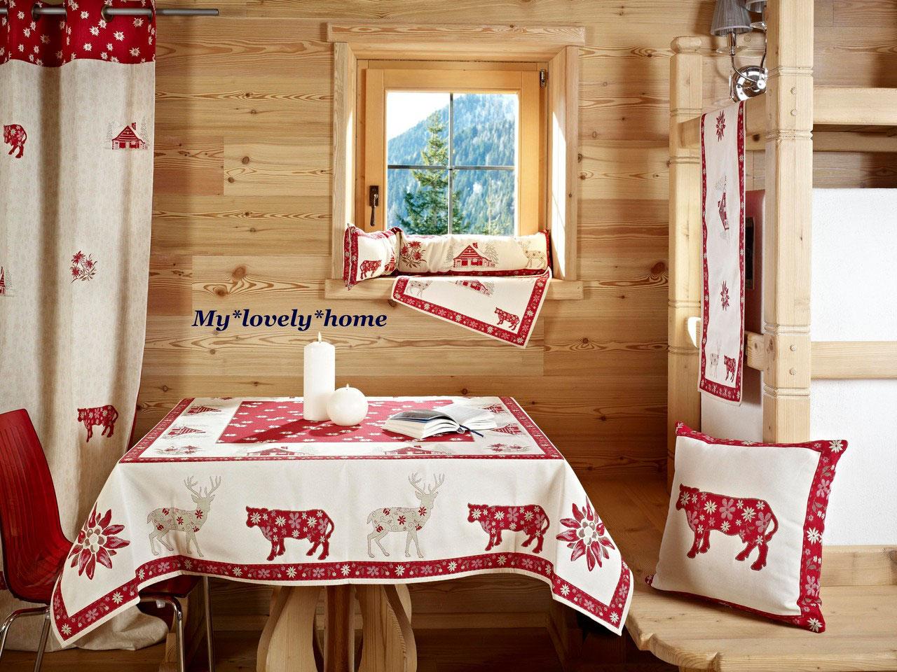 alpenchic kollektion romantische heimtextilien in landhausstil. Black Bedroom Furniture Sets. Home Design Ideas