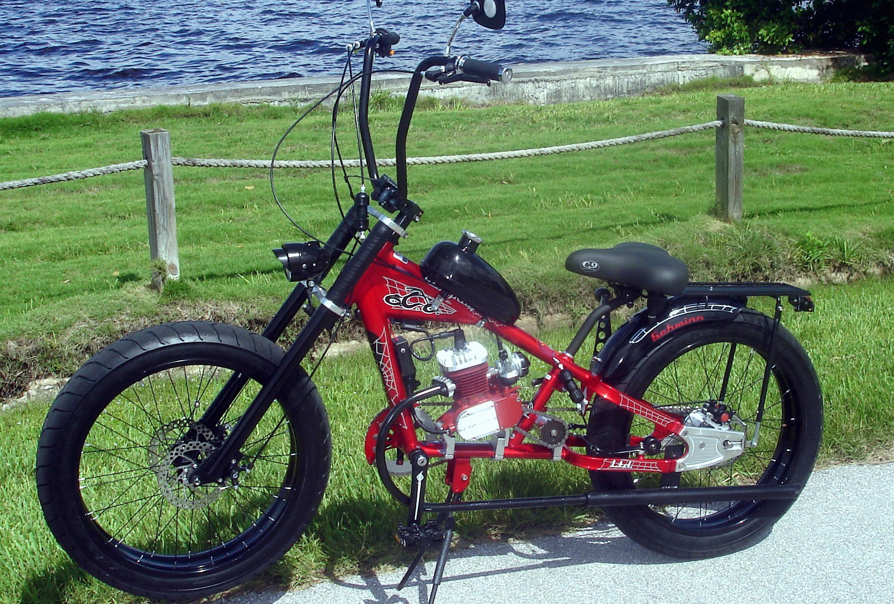 Web Theme Bike With All Upgrades Pedalchopper