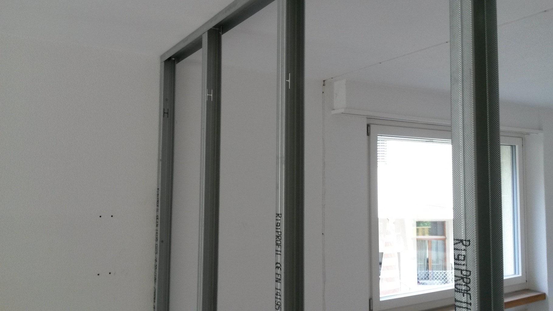 leichtbautrennwand unterkonstruktion mit metallprofilen. Black Bedroom Furniture Sets. Home Design Ideas