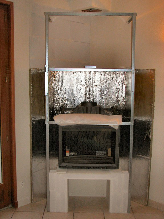caisson d 39 isolation et tubage chemin e foyer ferm. Black Bedroom Furniture Sets. Home Design Ideas