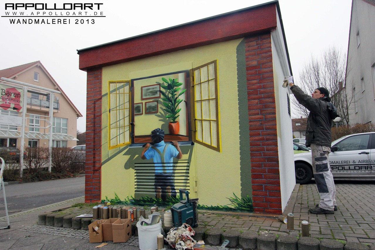 Graffiti airbrush wandmalerei fassadengestaltung appolloart graffiti airbrush wandgestaltung - Wandmalerei berlin ...