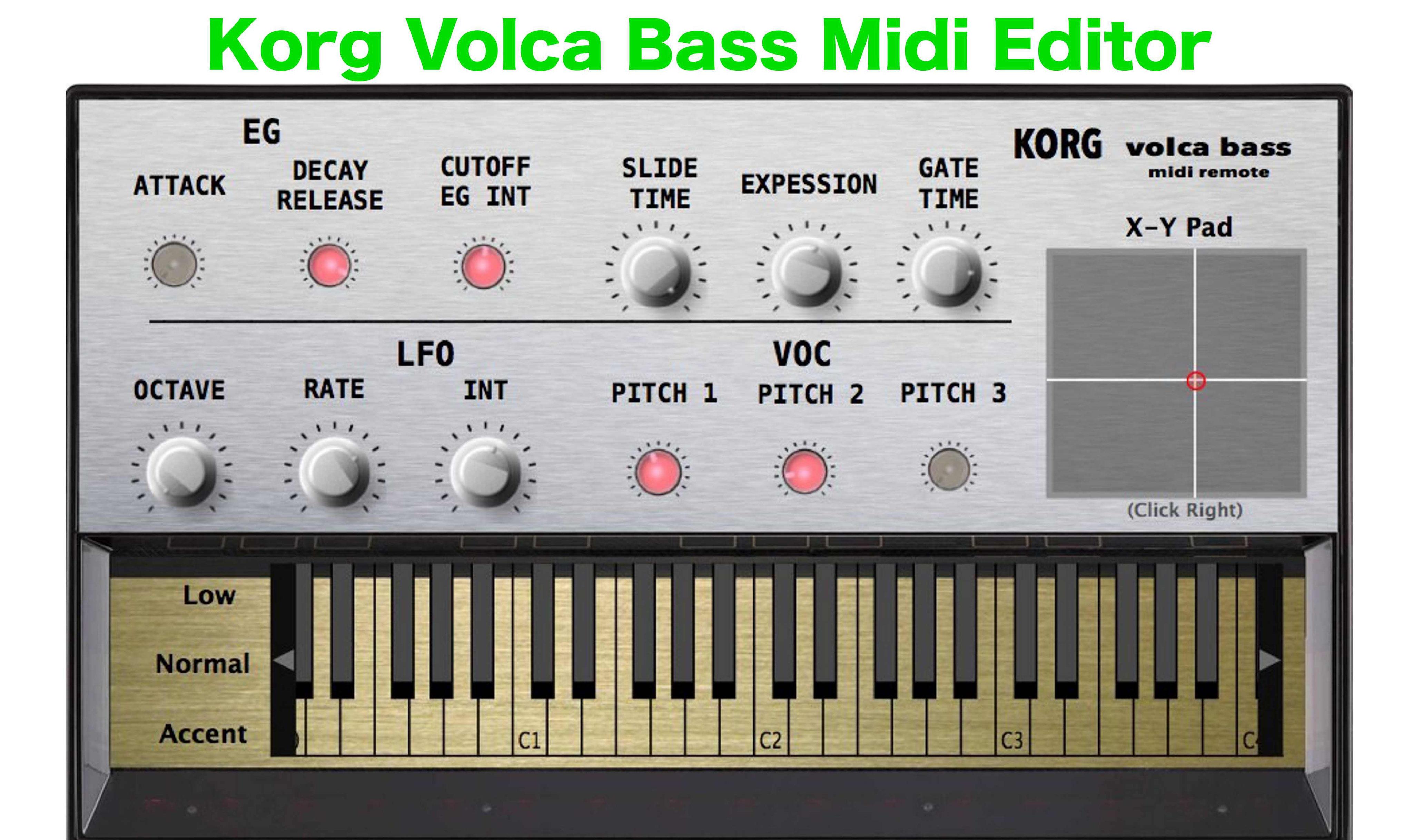 Volca Bass Midi Editor / VST