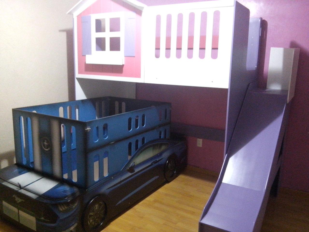 Litera infant l mixta casita con garage p gina web de - Precios de literas para ninos ...
