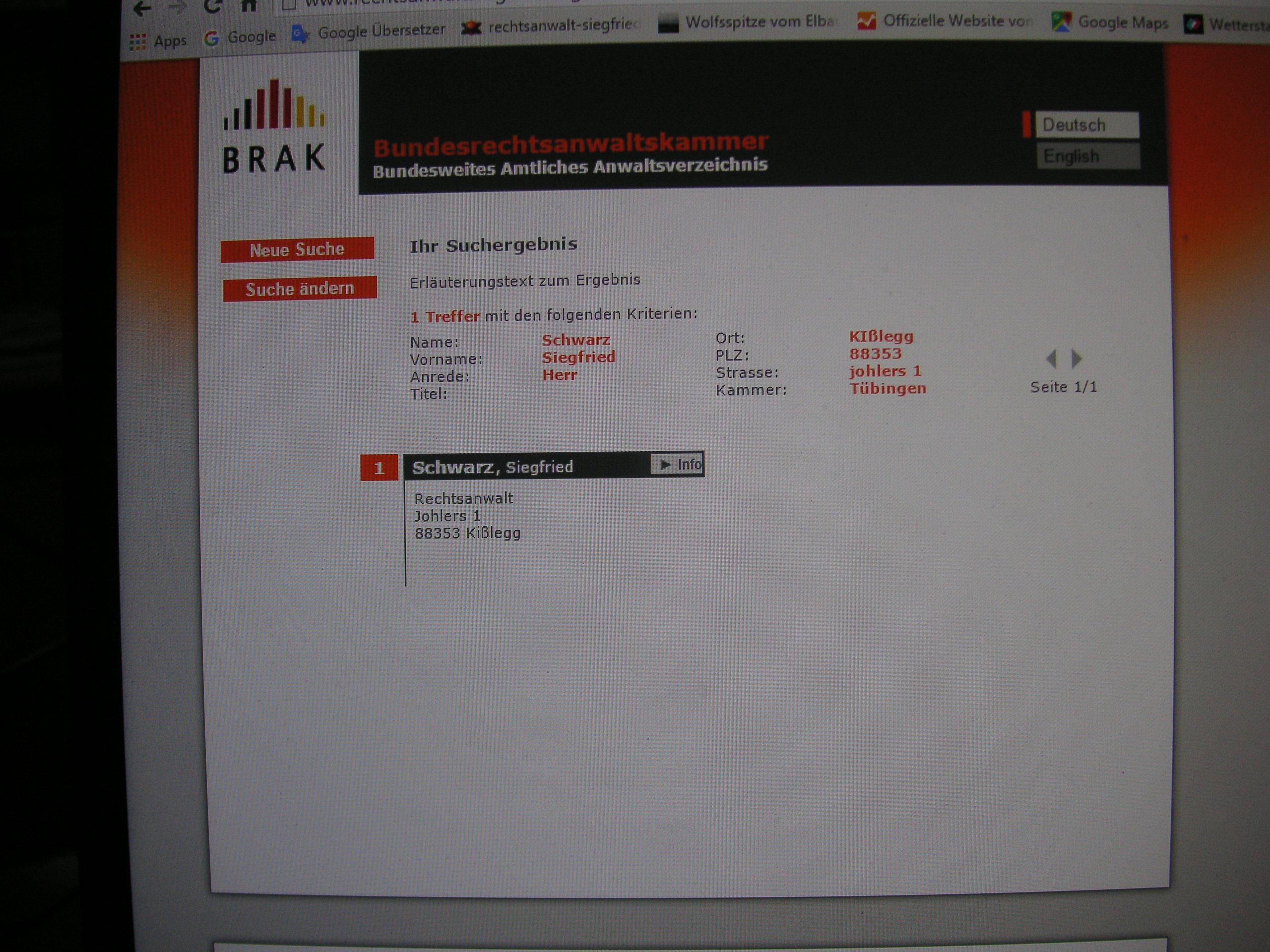 Kontakt Infos Impressum Rechtsanwalt Siegfried M Schwarz