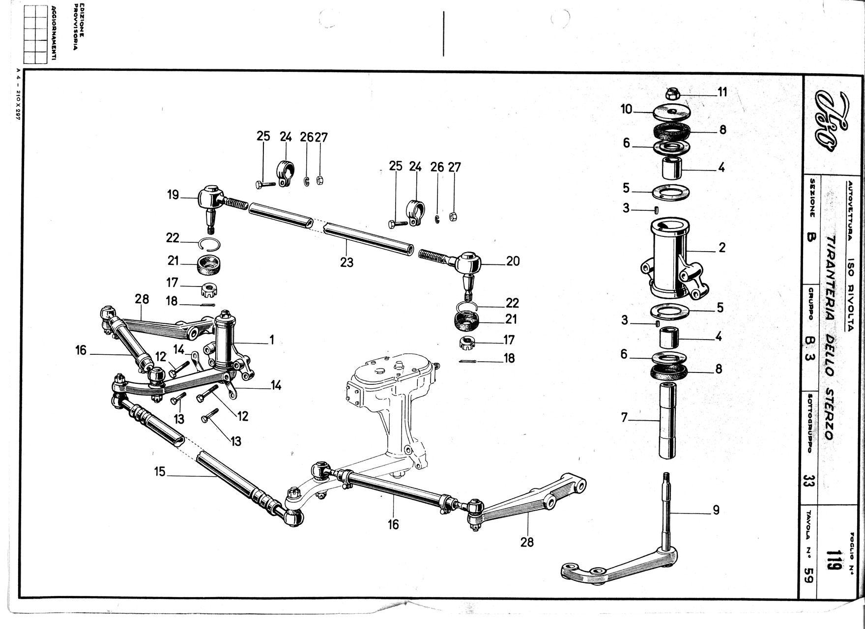 track rod steering linkage spurstange iso rivolta club. Black Bedroom Furniture Sets. Home Design Ideas