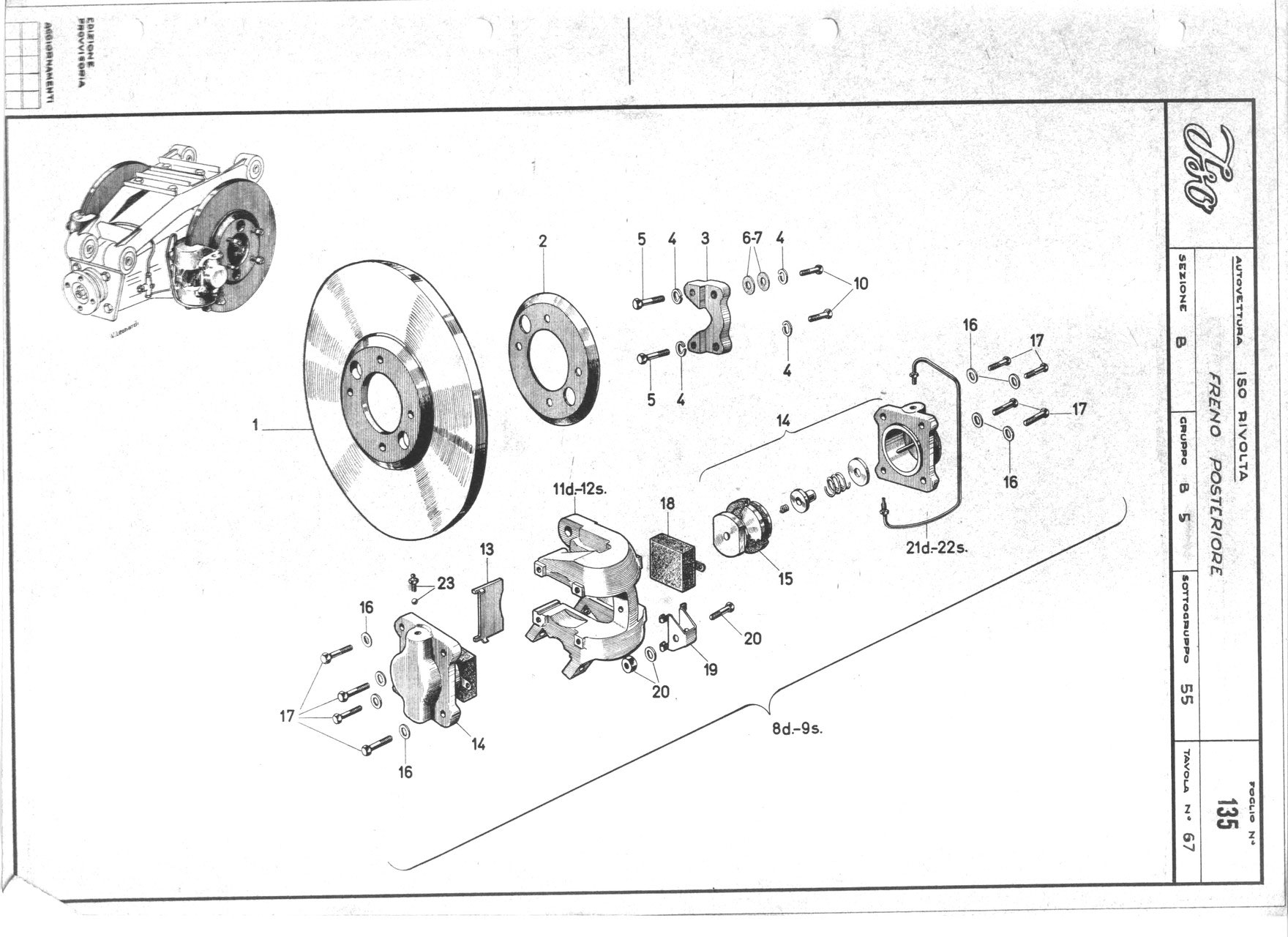 girling rear brake heckbremse iso rivolta club deutschland. Black Bedroom Furniture Sets. Home Design Ideas