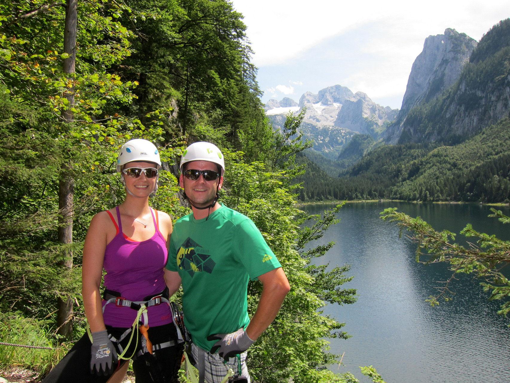 Klettersteig Gosausee : Klettersteige rund um gosau apartment bleisch in