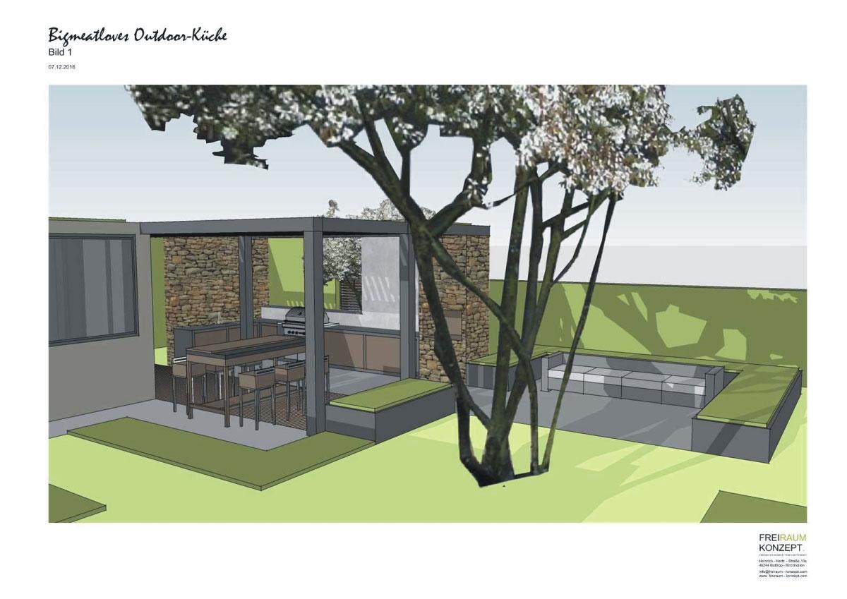 Outdoor Küche Aus Ulm : Garten küche mauern. arbeitsplatte küche holz schwarz experimente