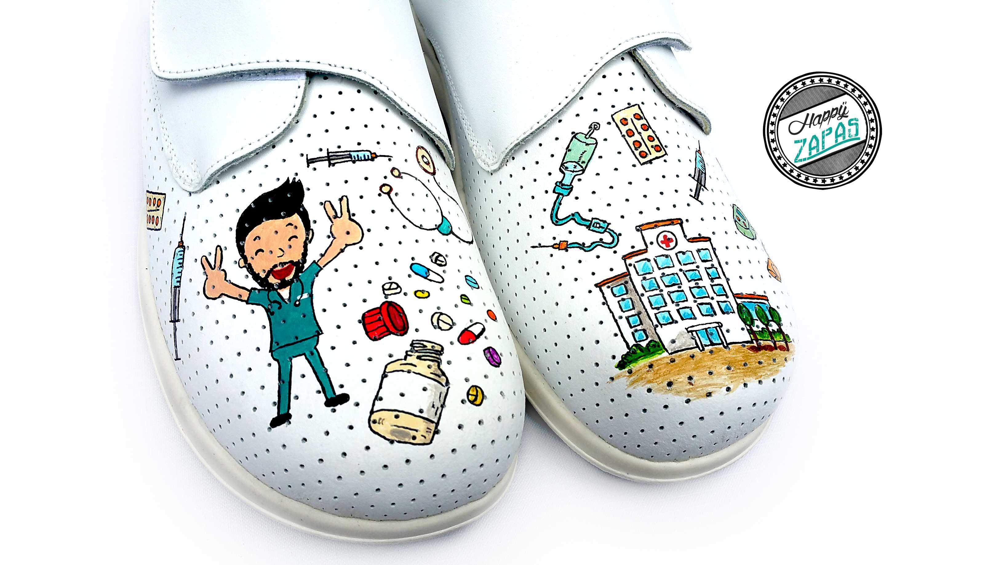 comprar online c3b1c 4a81b enfermero cañero - Zapatillas personalizadas