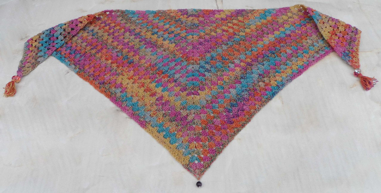 Half-Granny-Square-scarf (Schal) - christacreativgrafs Webseite!