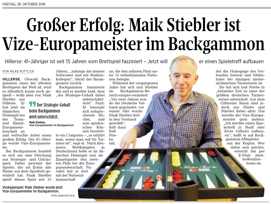 Deutscher Backgammon Verband