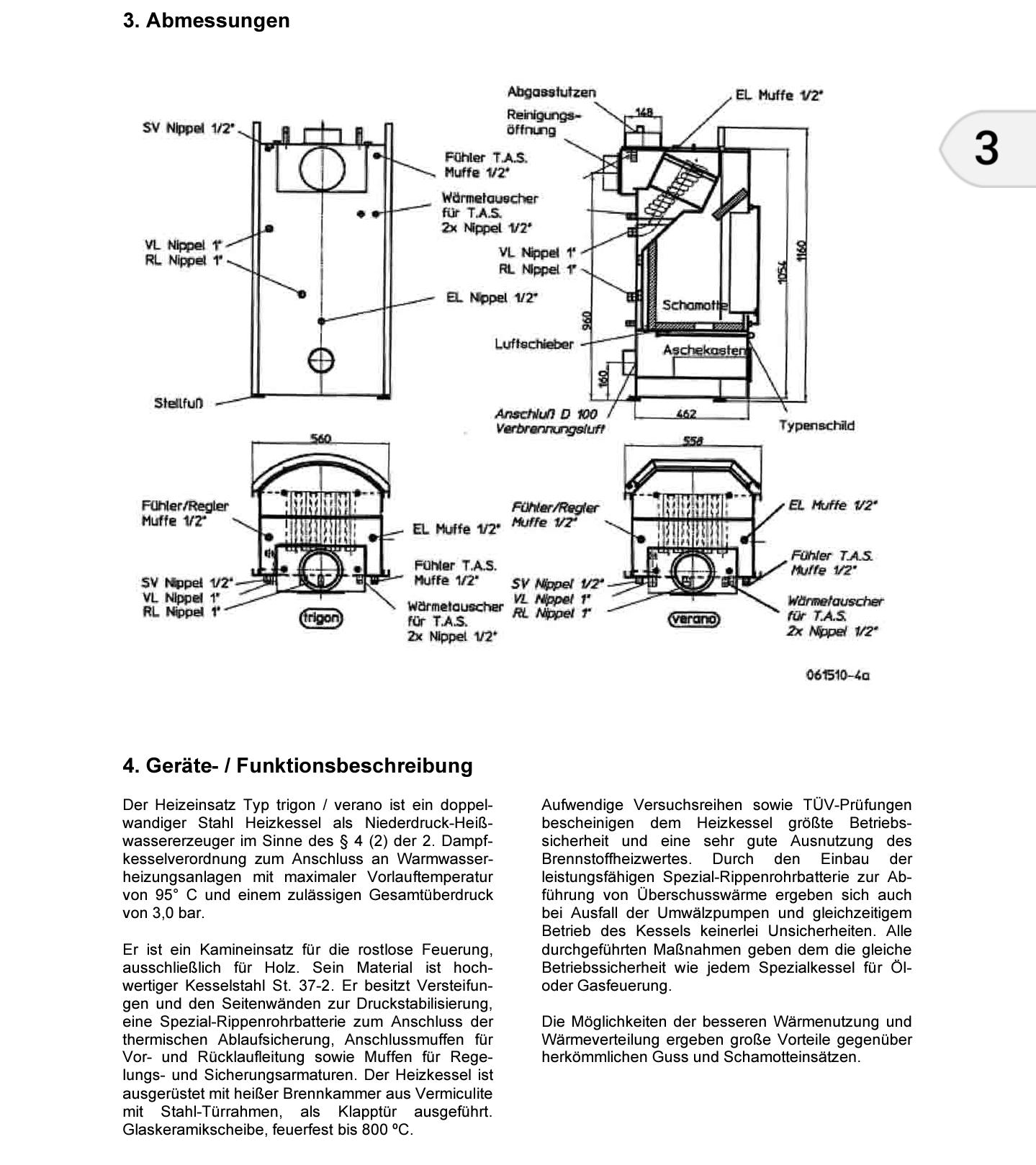 SBS Heizkessel: Ersatzteile Kaminofen Trigon/Verano Shop - 04283 ...