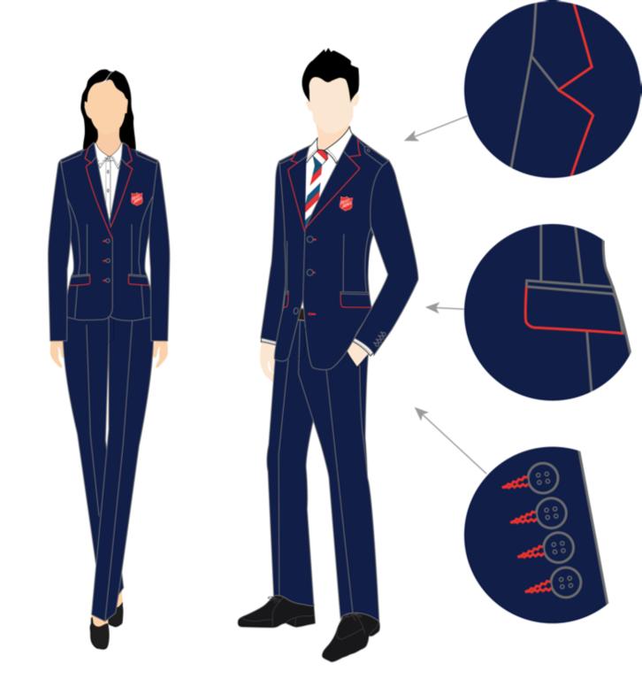 d2b7ff9e842a Uniform klassisch, navyblau - Heilsarmee Online Shop