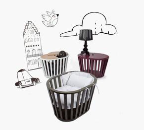 neu bei kind der stadt miniguum babybett stubenwagen. Black Bedroom Furniture Sets. Home Design Ideas