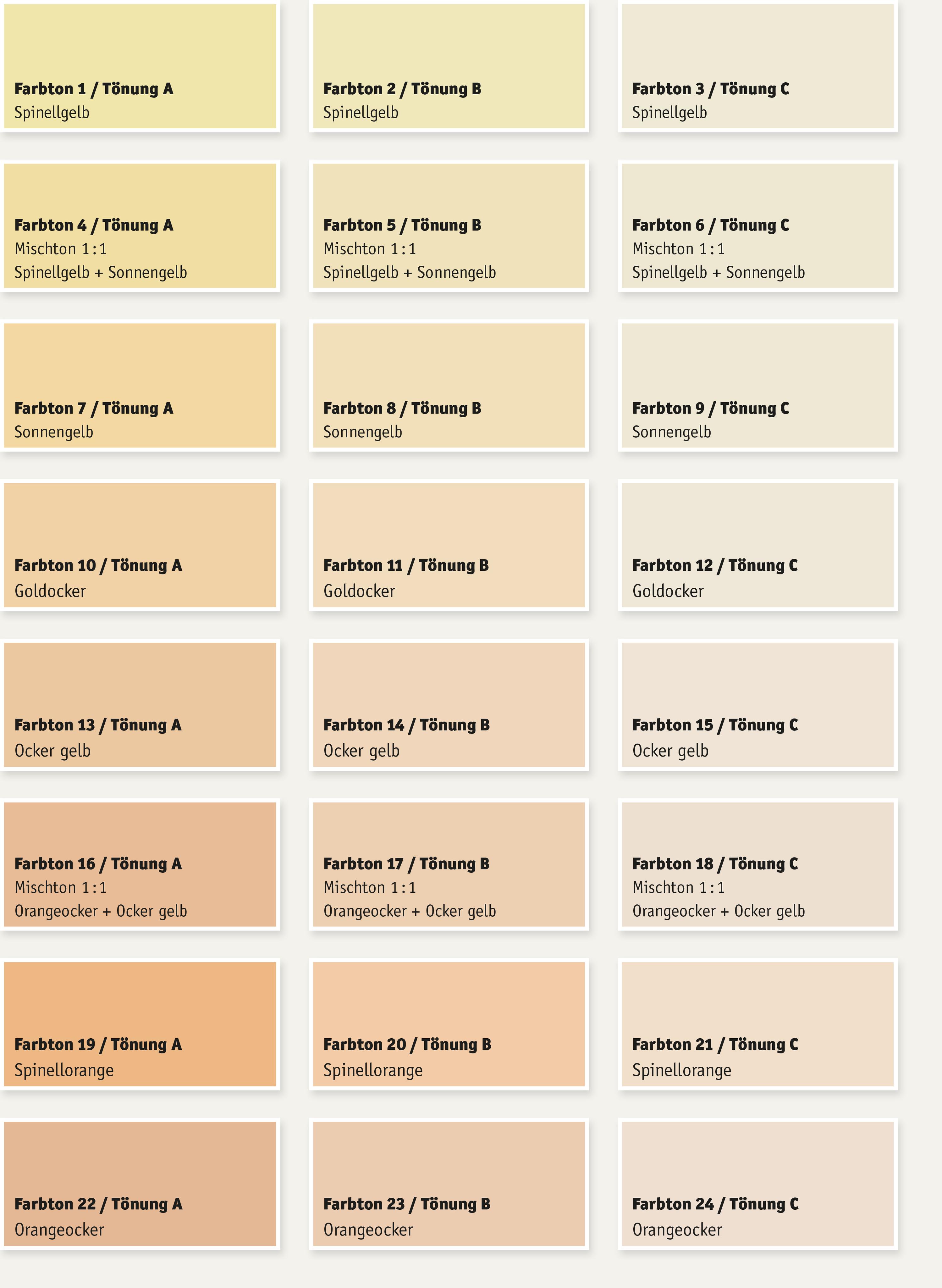 farbfächer wandfarben & putze - bremer kreidezeit naturfarben