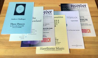 リコーダーオーケストラなど、大編成用の楽譜をピックアップしました