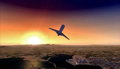 Sonnenaufgang mal anders erleben: Die Piloten der RegionalSP sind rund um die Uhr für unsere Kunden in der Luft und fliegen in die entlegendsten Orte Europas.