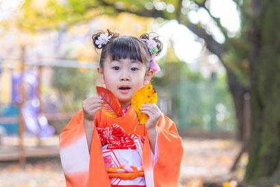 旗岡八幡神社 出張撮影 七五三 女性カメラマン こども 料金格安