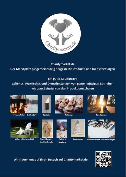 Charitymarket.de - Das Werbematerial für Charitymarket  von den Grafikern der Produktionsschule Altona