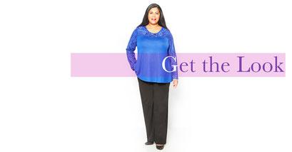 Damen-Pullover in großen größen , Damenpullover blau XXL