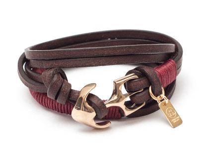 Stylisches Ankerarmband individuelles Lederarmband für Damen und Herren