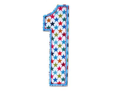 Geburtstagszahl 1 Aufbügler für Geburtstag, Geschenk zum ersten Geburtstag