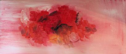 Nr. 2012-HO-015: 30 x 70 cm, Ölfarbe, Baumwolle auf MDF, gepolstert, Rosenkissen