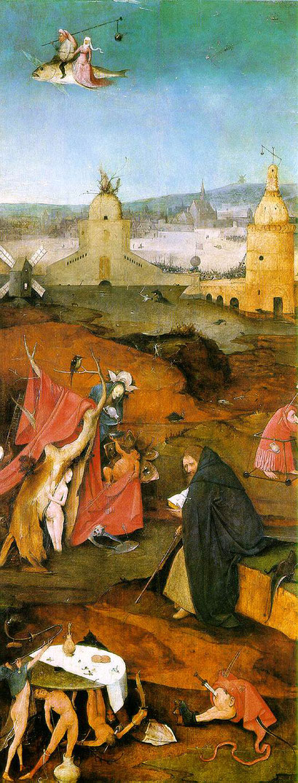 Subraya el pintor con su iconografía particular, cómo la fuerza de Cristo le sirve para superar las tribulaciones.