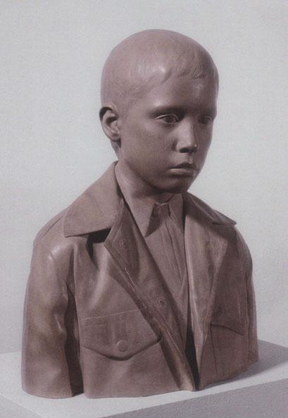 En su hijo Francesco también simplifica el retrato confiriendo un cierto aire de intimidad y expresión contenida.