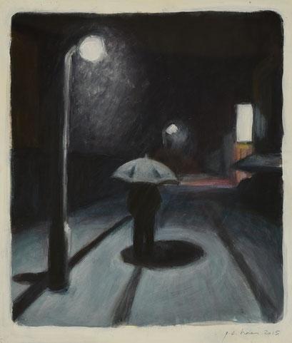 philipp christoph haas | studie zur serie 'nachtRaeume', akryl auf papier, 2015