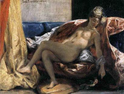 Женщина с попугаем. 1827