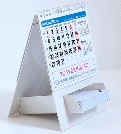 Calendario de 13 hojas portanotas