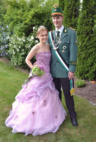 Neues Kreiskönigspaar Josef Lues und Lena Höpper