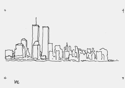 World Trade Centre Sketch By Heidi Mergl Architect