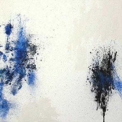 Mouvance I. Acryl sur toile. 130 x 130 cm