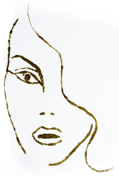 Michael G. - Foto 1 - langhaariges Mädchen, Pfeffer auf weißem Papier