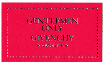 2016 - GENTLEMEN ONLY ABSOLUTE - CARTE EN CARTON