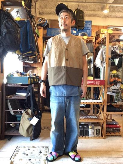 ※172㎝62㎏体型で着用(Beige/Khaki)